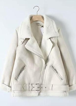 Куртка дубленка авиатор косуха