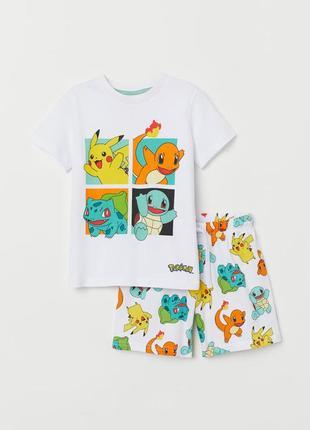 H&m детская пижамка с покемонами на 2-4 года