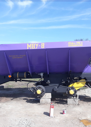 Розкидач мінеральних добрив та піщано сольової суміші РУМ-8, МВУ8