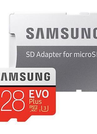 Карта памяти Samsung 128 GB microSDXC Class 10 UHS-I U3 EVO Plus