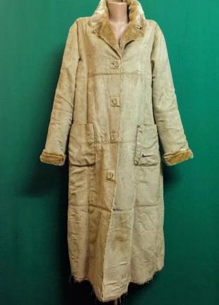 Демисезон .пальто искусств. замша one two