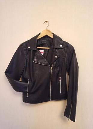 Кожаная куртка кожанка черная косуха
