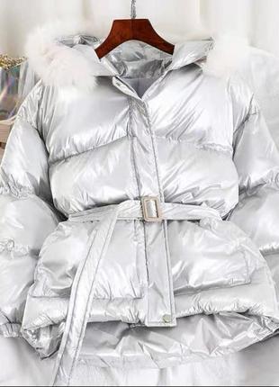 Куртка в стиле монклер женская зимняя
