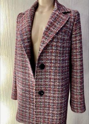 Дизайнерский твидовый костюм жакет / пиджак и юбка