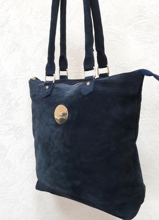 Шикарная замшевая сумка varese.