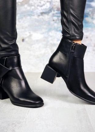 Эксклюзив! натуральная кожа стильные кожаные осенние ботинки н...