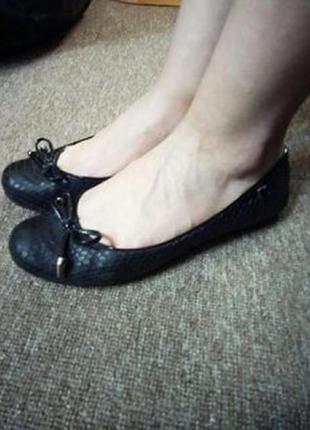 Кожаные туфли балетки браска braska