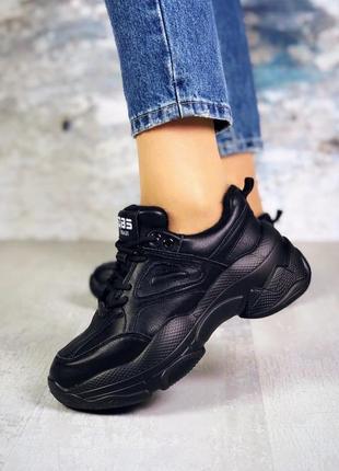 Натуральная кожа осенние кожаные утепленные кроссовки на модно...