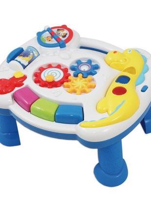 Игровой развивающий столик, панель на кроватку Дино, укр озвучка