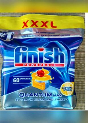 Finish Quantum Max Lemon-таблетки для посудомоечных машин