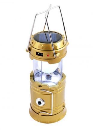 Лампа кемпинговая WOW JH-5800T LED c POWER BANK Золотой