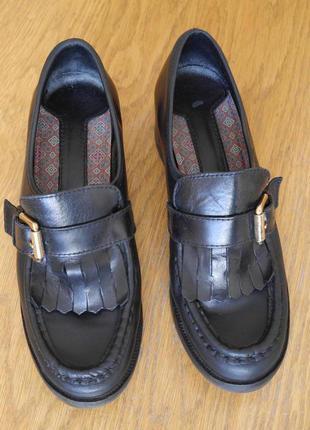 "Туфлі шкіряні розмір 4 1/2 на 37 стелька 24,3 см marc o""polo"