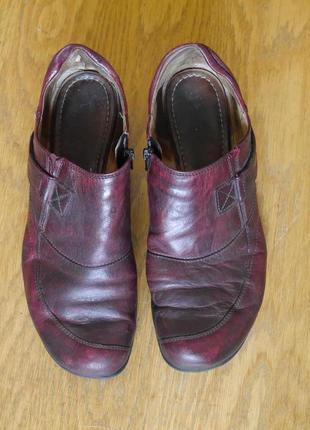Туфлі шкіряні розмір 7 на 40 стелька 26,7 см gabor