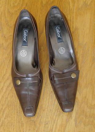 Туфлі шкіряні розмір 40 стелька 28,6 см gabor