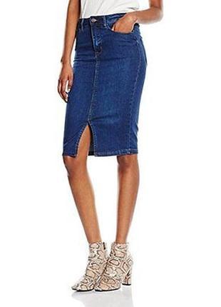 В наличии джинсовая юбка карандаш new look деним /джинсовая юбка