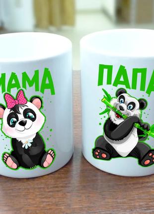 Парные кружки панды, чашка для мамы, чашка для папы