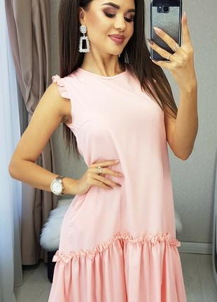 Сарафан розовый батал, летние платья, женские сарафаны