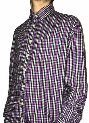 Paul Smith рубашка в клатку с американским логотипом размер L