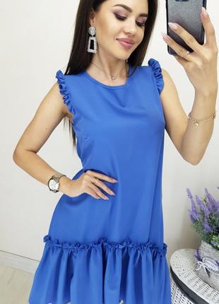 Сарафан синий батал, летние женские сарафаны, летние платья