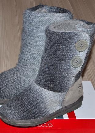 Фирменные модные, стильные вязанные сапожки next 33р. -3d.