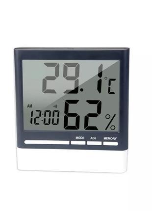 Цифровой термогигрометр с часами, метеостанция гигрометр