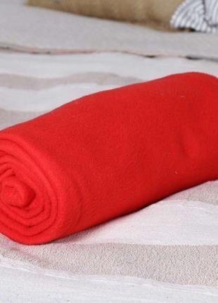 Рукоплед. Плед с рукавами и карманами из флиса 180х150. Красный