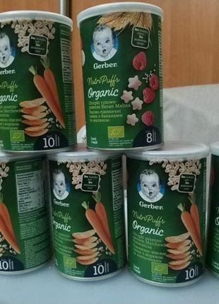 Снеки Gerber Organic 6шт