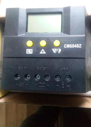 Контроллер заряда 60А 48В Juta CM6048 для солнечных систем.