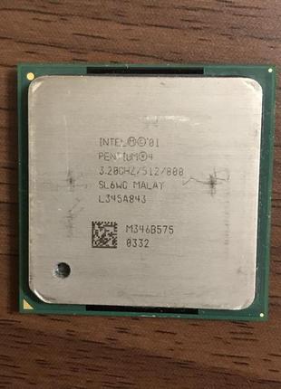 Процессор Intel Pentium 4 HT (3.2 GHZ) Socket 478 (2 Потоки)
