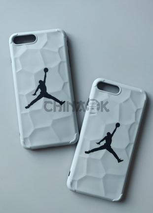 Чехол Air Jordan Nike Белый для Iphone 7 plus