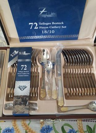 ZPT Набор столовый ZP-889. На 12 персон. 72 предмета. В кейсе.