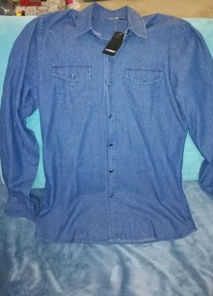 Классная мужская рубашка Livergy, плотный 100% хлопок