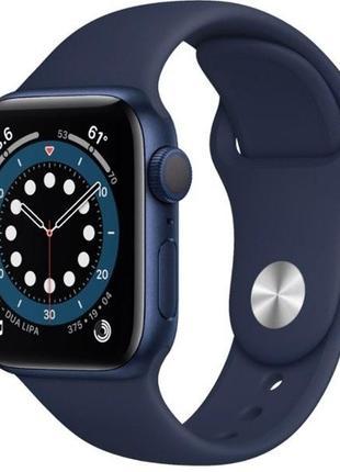 Apple Watch Series 6 GPS 40mm Blue Aluminium Case with Deep Navy