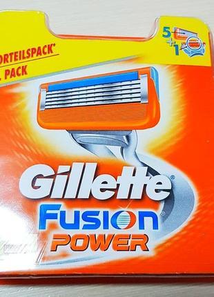 Gillette Fusion Power 8 шт. сменные кассеты оригинал Германия