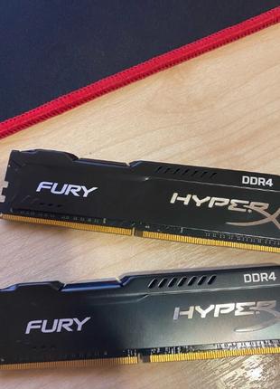 Память HyperX 32 GB (2x16GB) DDR4 3200 MHz Fury Black