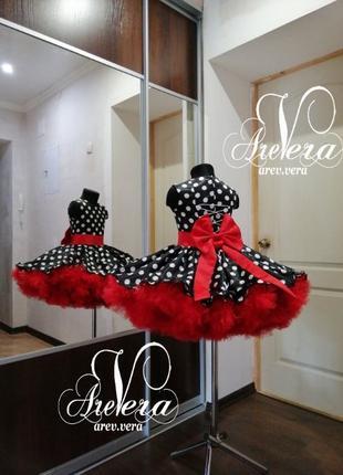 Нарядное детское платье выпускное стиляги горошек горох кукла ...