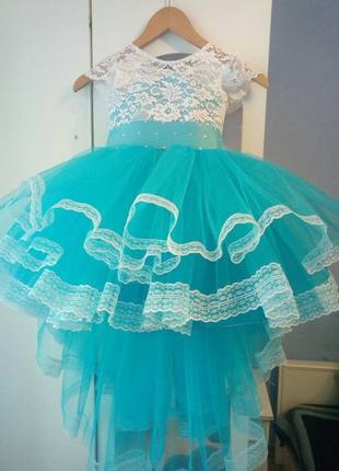 Нарядное детское платье праздничное выпускное вечернее пышное ...