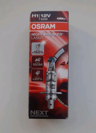 Автолампа OSRAM Night Breaker Laser H1 +150% 64150NL (1 шт.)