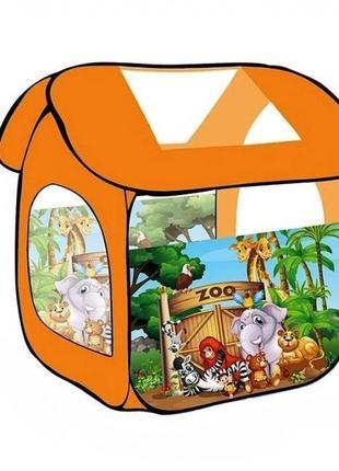 Дитяча ігрова палатка 8009 ZOO Тваринний світ розмір 100х83х83 см