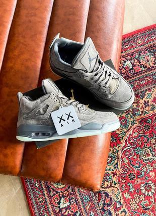 Nike air jordan 4 grey, кросівки найк джордан сірі