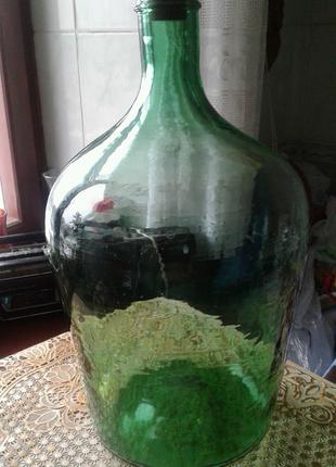 Бутыль стеклянная--10л.