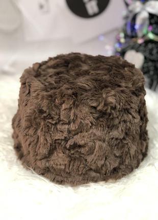 Женская зимняя панама мех