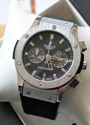 Мужские наручные часы big bang black&silver + подарочная короб...
