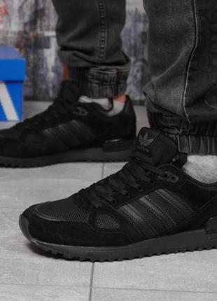Кроссовки мужские 18164 ► adidas zx 750, черные