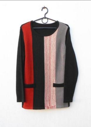 Осенний зимний вязаный свитер с длинным рукавом 🌿