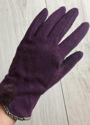 Перчатки, рукавиці, фиолетовые перчатки.