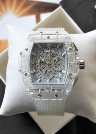 Мужские наручные часы big bang quartz unico sapphire white