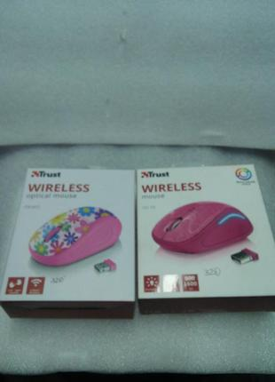 МИША TRUST PRIMO WIRELESS MOUSE PINK FLOWERS