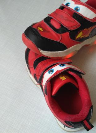 Детские кроссовки с подсветкой disney cars, Euro 25.5