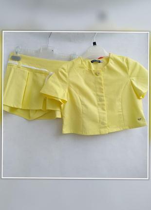 Новый комплект юбка-шорты и пиджак original marines (италия)